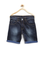 United Colors of Benetton Boys Navy Washed Denim Shorts