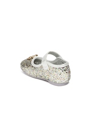 Juniors by Lifestyle Girls Silver-Toned Mary Janes