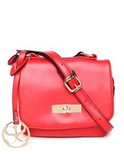 Satya Paul Red Leather Sling Bag