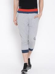 FILA Grey Melange Three-Fourth Shorts