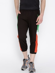 FILA Brown LIFAN Colourblocked 3/4th Track Pants