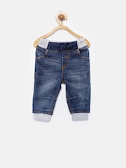 YK Baby Boys Blue Washed Jeans