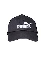 PUMA Unisex Black ESS Cap