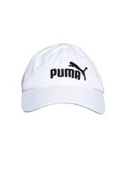 PUMA Unisex White ESS Cap