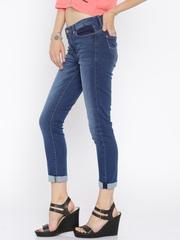 Lee Blue Jegging Ankle-Length Skinny Fit Jeans