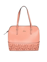 Lavie Peach-Coloured Edwina Handbag