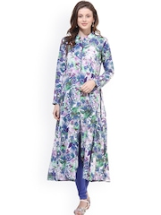 La Firangi Multicoloured Printed A-Line Kurta