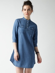 Mast & Harbour Blue Denim Shirt Dress