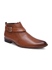Sir Corbett Men Tan Brown Semiformal Shoes
