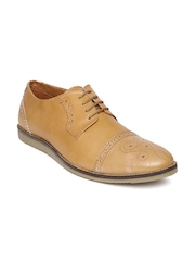 Allen Solly Men Brown Leather Brogue Shoes