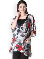 Morph Maternity White Floral Print Kaftan Top