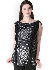 Morph Maternity Black Printed Satin Top