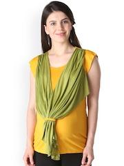 Morph Maternity Mustard Yellow & Olive Green Top