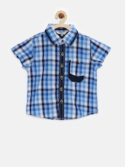 People Boys Blue Checked Shirt