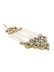 Zaveri Pearls Gold-Toned & White Beaded Passa