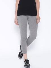 Ajile by Pantaloons Grey Melange Ankle-Length Leggings