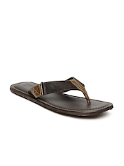 Estd. 1977 Men Brown Leather Sandals