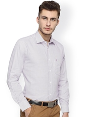 Balista Pink Printed Classic Fit Formal Shirt