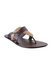 Mochi Men Brown Leather Sandals