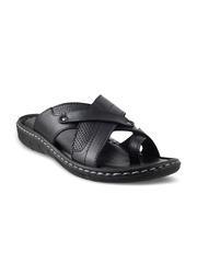 Mochi Men Black Leather Sandals