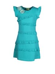 CUTECUMBER Girls Blue A-Line Dress