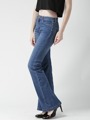 FOREVER 21 Blue Washed Flare Fit Bootcut Jeans