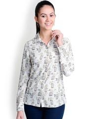 499 White Printed Shirt