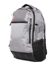 Gear Unisex Grey and Black Waterproof Backpack with Raincover