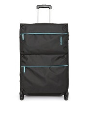 AMERICAN TOURISTER Unisex Black AT Velocity Spinner Medium Trolley Bag