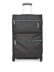 AMERICAN TOURISTER Unisex Black AT Velocity Large Trolley Bag