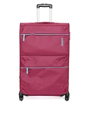 AMERICAN TOURISTER Unisex Magenta AT Velocity Large Trolley Bag