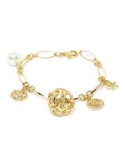 MONA SHROFF 18k Gold-Plated Charm Bracelet