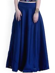 Faballey Indya Blue Silk Maxi Skirt