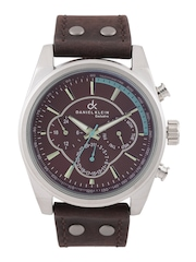 Daniel Klein Exclusive Men Brown Chronograph Dial Watch DK10567-7