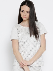 Vero Moda Beige Cut-Out Top