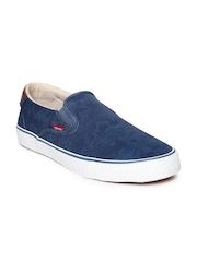 Levis Men Blue Printed Slip-Ons
