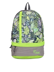 F Gear Unisex Green Printed Burner P2 Backpack