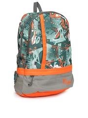 F Gear Unisex Grey Printed Burner P2 Backpack