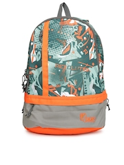 F Gear Unisex Grey Printed Burner P2 Backpack