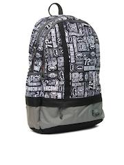 F Gear Unisex Casual Black Printed Backpack
