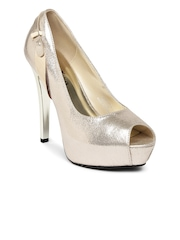 Paprika by Lifestyle Women Muted Gold-Toned Platform Heels