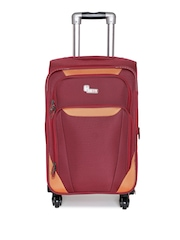 F Gear Unisex Red Expandable Small Cabin Luggage