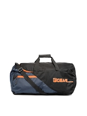 F Gear Unisex Black & Navy Explory Duffle Bag