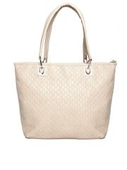 Cappuccino Cream-Coloured Textured Shoulder Bag