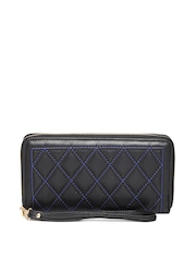 Cappuccino Women Black Quilted Wallet