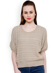 Renka Beige Striped Top