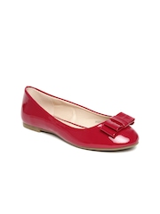 Allen Solly Women Red Glossy Ballerinas