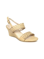 Allen Solly Women Beige Laser Cut Wedges