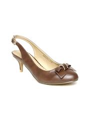 Allen Solly Women Brown Kitten Heels