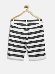 United Colors of Benetton Boys Black & White Striped Shorts